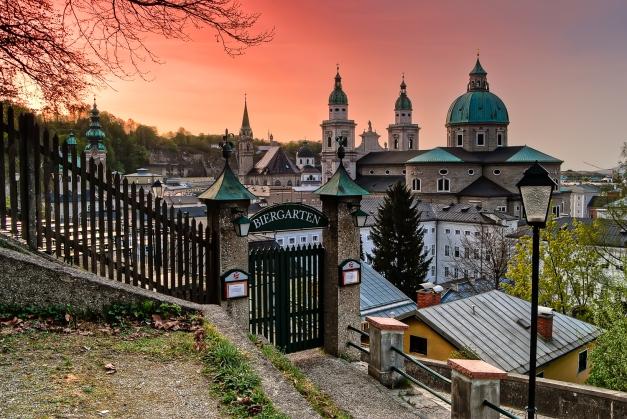 Tramonto al Biergarten Salisburgo